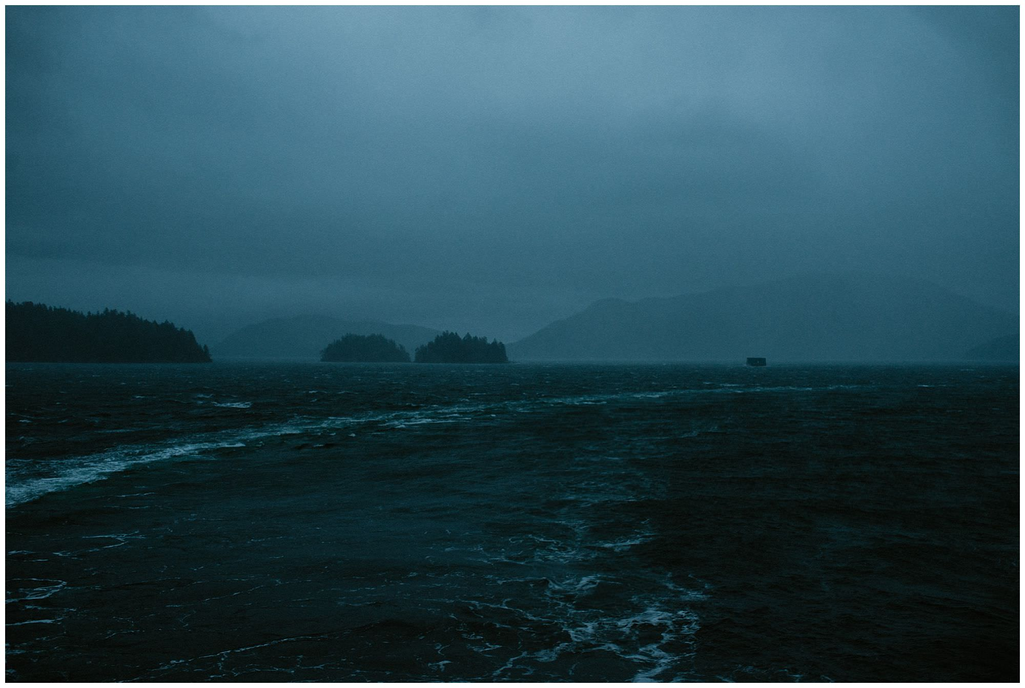 early morning storm ferry to Gibsons