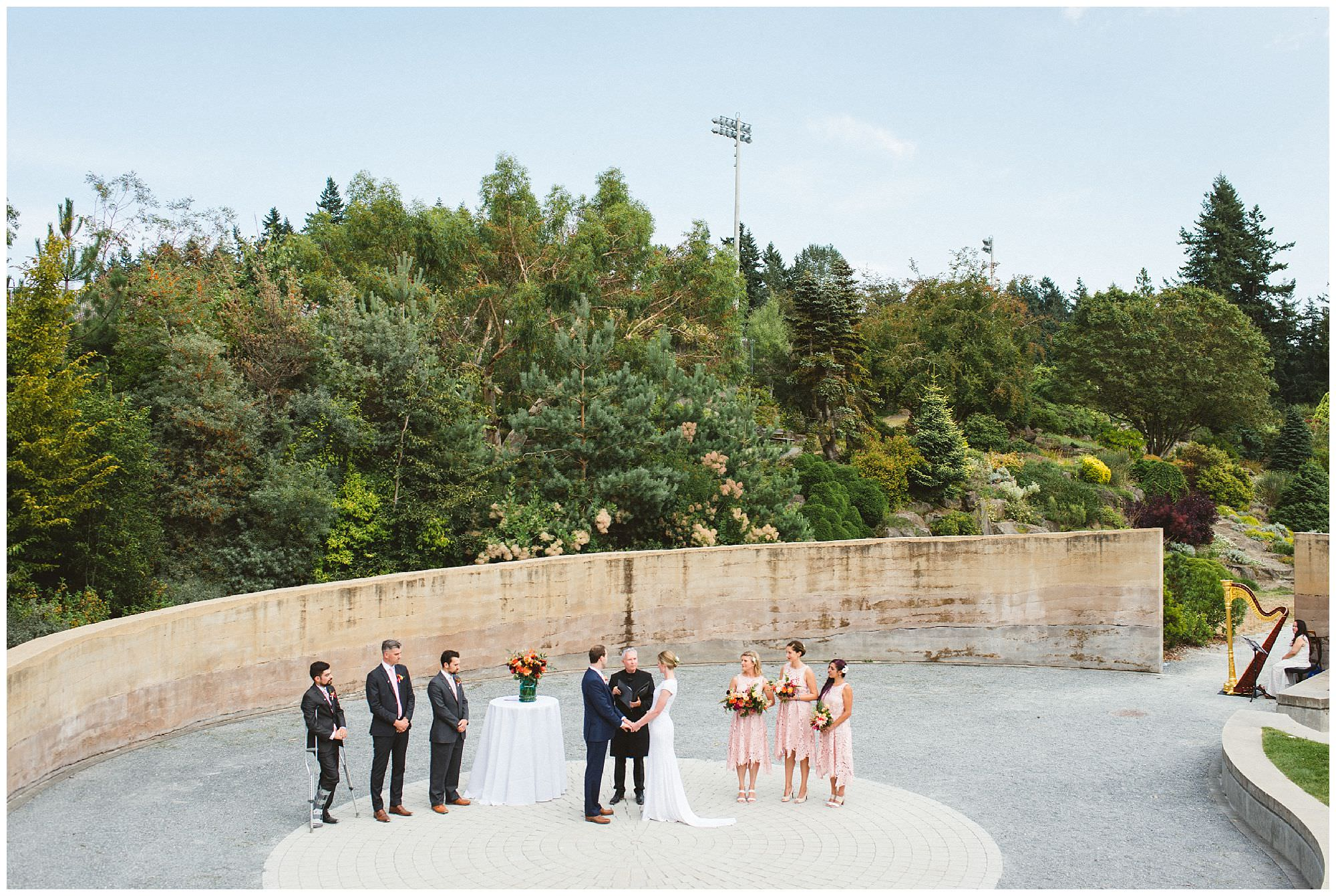 Vancouver wedding at UBC Botanical gardens