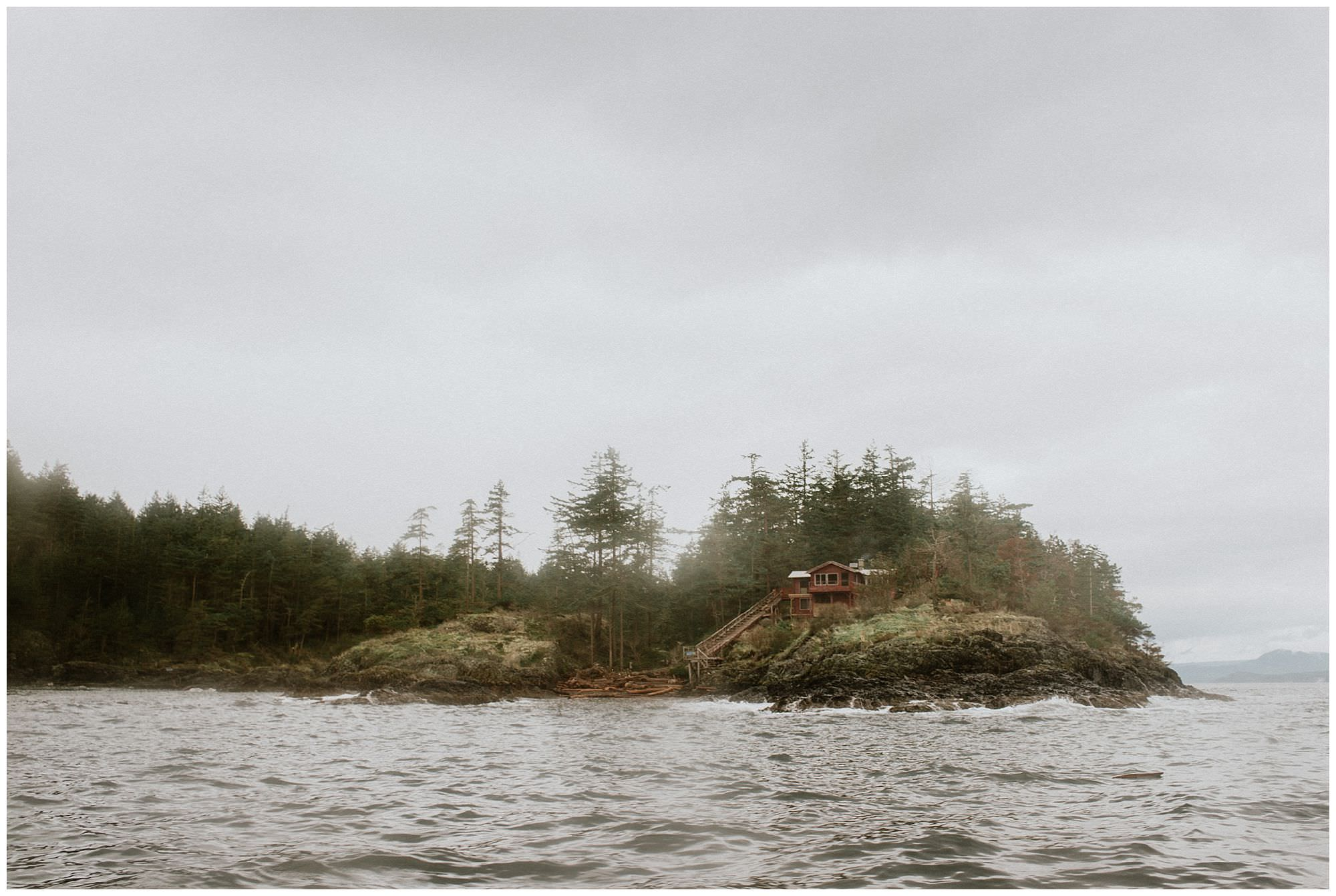 view of rustic family cabin on Thormanby Island