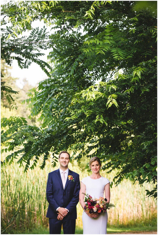 bride and groom wedding at UBC Botanical Gardens