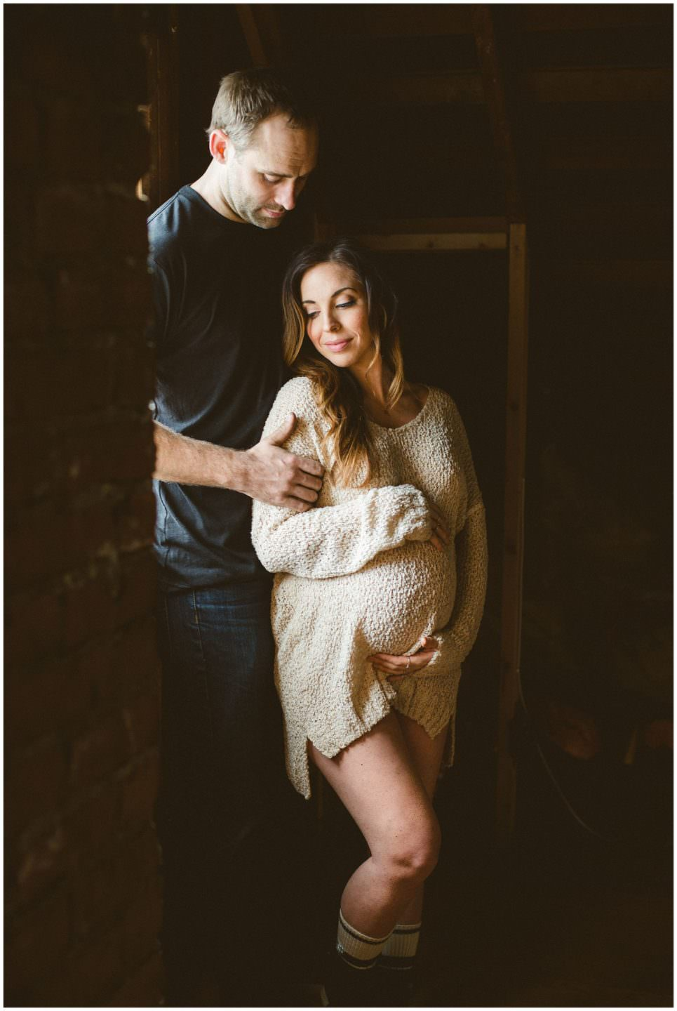 couple-during-in-home-maternity-session-Vancouver