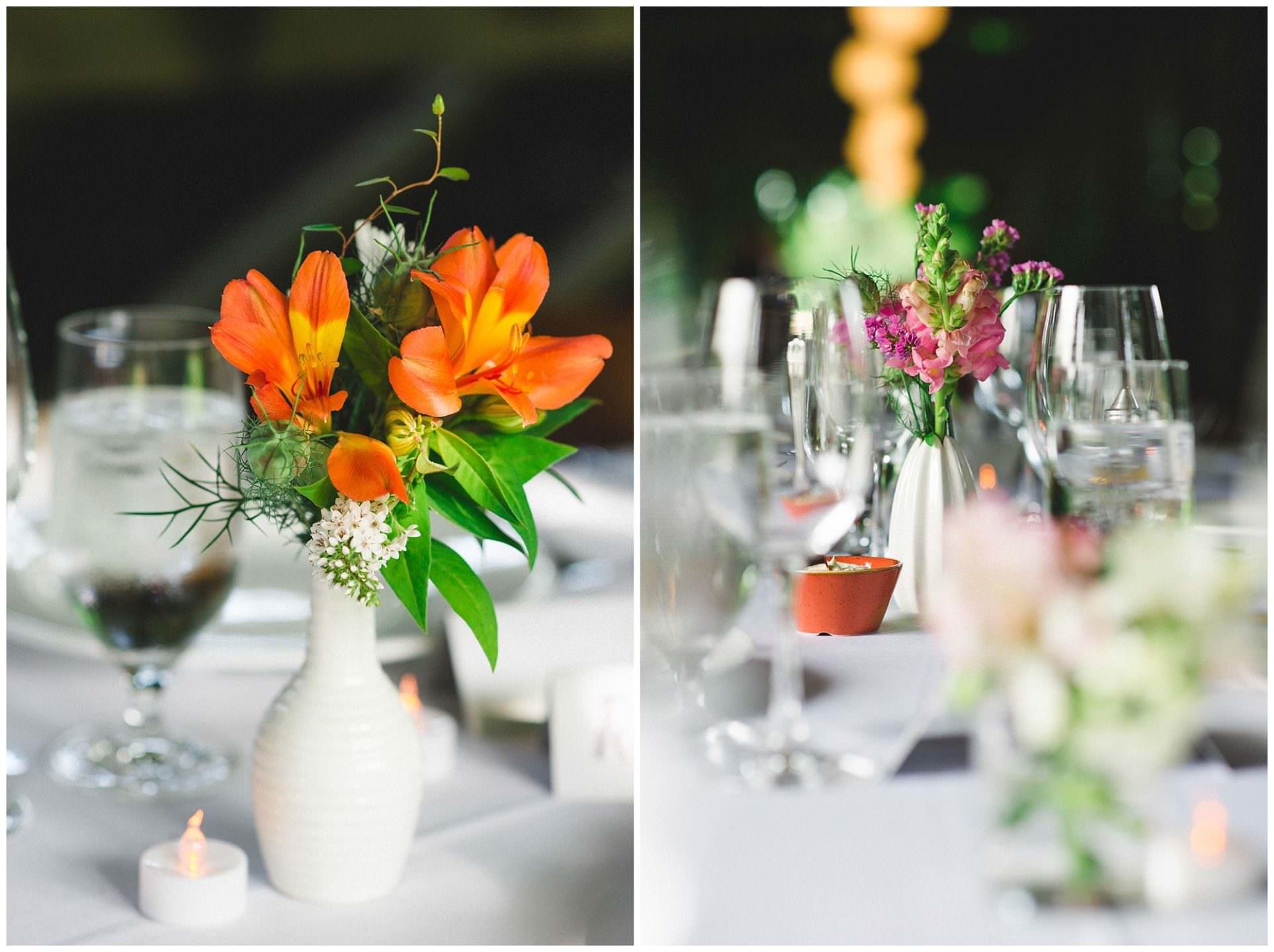 handpicked wedding florals at UBC Botanical Gardens