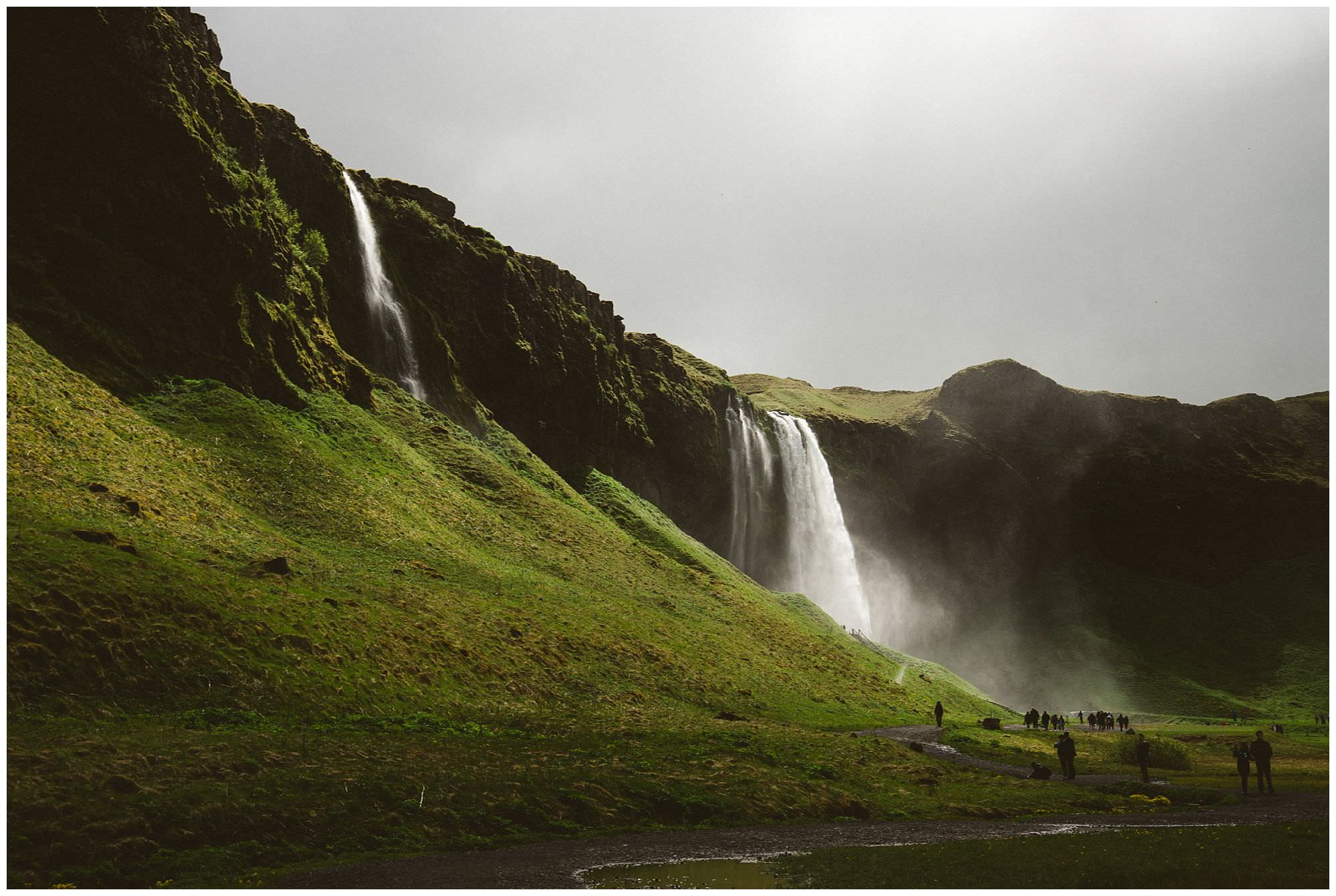 waterfalls in Iceland by travel photographer