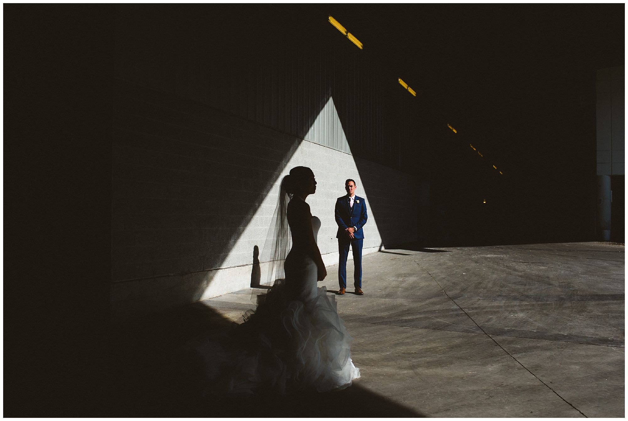 Unique photos of bride and groom by Vancouver wedding photographer Ronnie Lee Hill