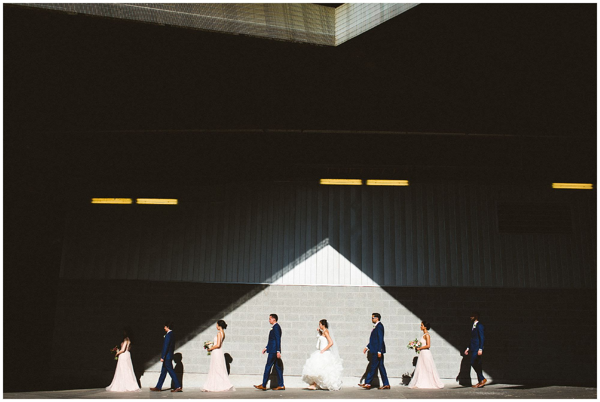 Non traditional candid bridal party photo by Vancouver wedding photographer Ronnie Lee Hill