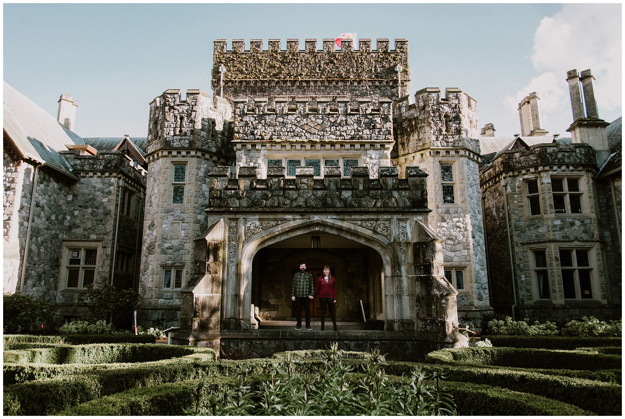 couple-in-castle-engagement-photography-at-Royal-Roads-Victoria_BC