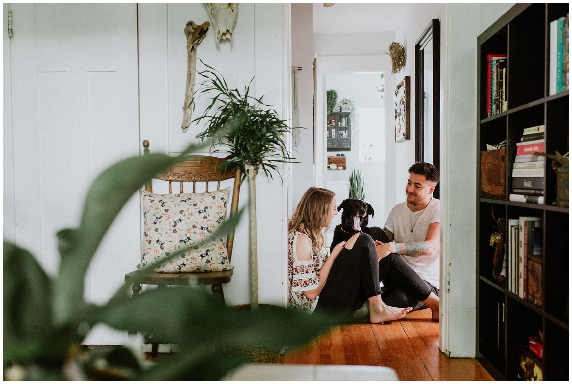 Vancouver wedding photographers, in-home engagement photos