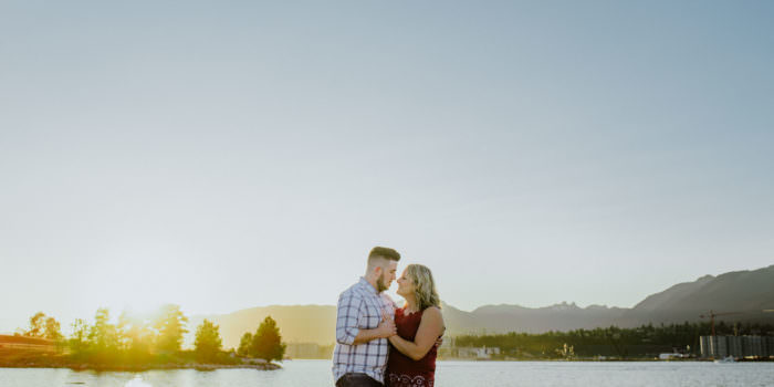 vancouver wedding photographers, vancouver sunset engagement session