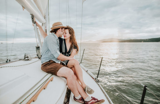 sailboat engagement session, nautical engagement photos