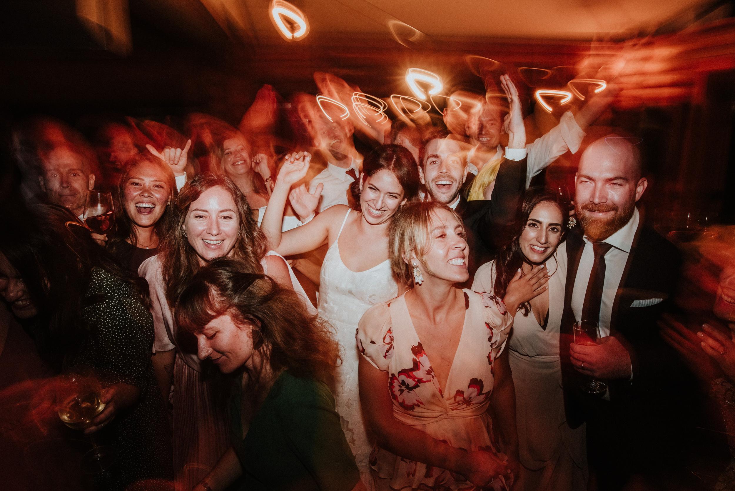 guests dancing at wedding at Bodega Ridge