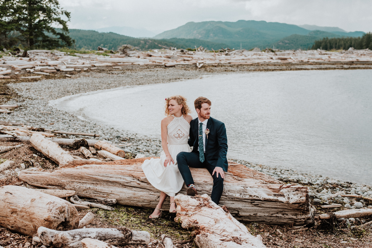 elopement wedding on Quadra Island BC