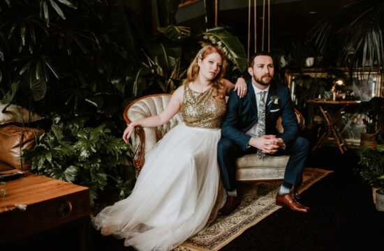 New Years Eve elopement at The Loft Garden Oasis in Vancouver